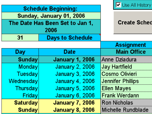 Click to view Create Floor Schedules for Your Agents 3.92 screenshot