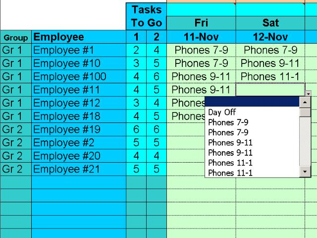 Easy Task Scheduling, Easily Assign Tasks, Shift Schedules