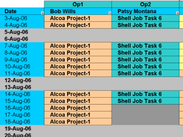 Schedule Equipment to Batches with Excel