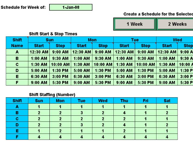12 Hour Shift Work Schedules Examples